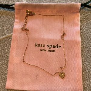 Kate Spade Rose Gold K initial Heart Necklace